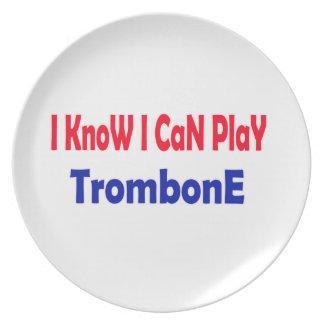 Sé que puedo jugar el Trombone. Plato Para Fiesta