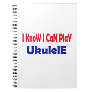 Sé que puedo jugar el Ukulele. Libretas Espirales