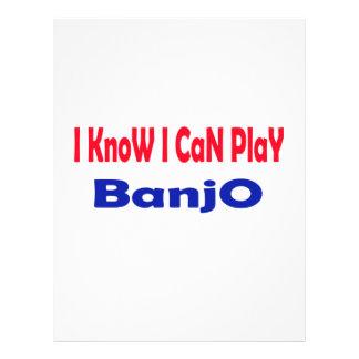 Sé que puedo tocar el banjo membrete