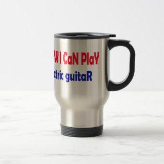 Sé que puedo tocar la guitarra eléctrica taza de viaje de acero inoxidable