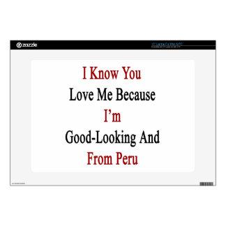 Sé que usted me ama porque soy apuesto y franco portátil skins