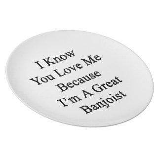 Sé que usted me ama porque soy gran Banjoist Plato