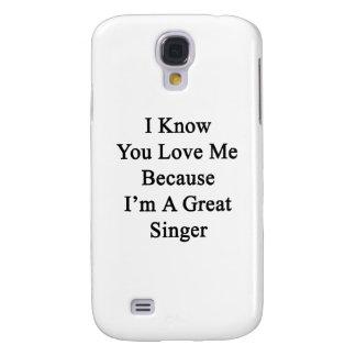 Sé que usted me ama porque soy gran cantante