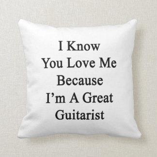 Sé que usted me ama porque soy un gran guitarrista cojin