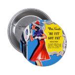 Se quepa el kitsch retro de las mujeres del vintag pins