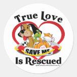 Se rescata el amor verdadero etiqueta redonda