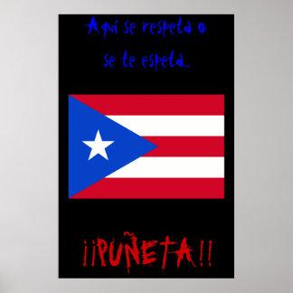Se Respeta O Se te Espeta Normal Flag Poster