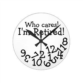 ¡Se retira el reloj divertido del retiro, que me