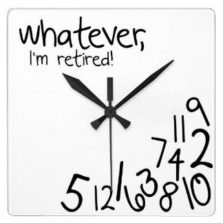 ¡se retiran lo que, yo! reloj cuadrado