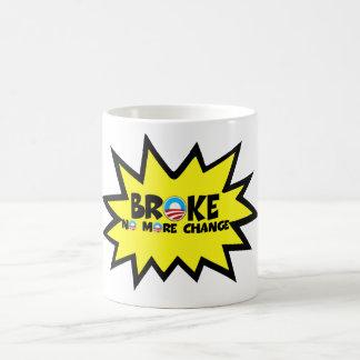 Se rompió, no más cambio Obama anti Taza De Café