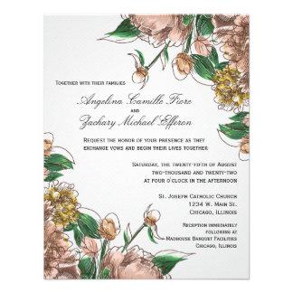 Se ruboriza el boda formal floral invita invitacion personal