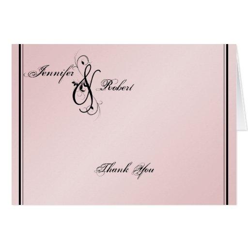 Se ruboriza el boda rosado de la elegancia le tarjetas