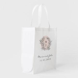 Se ruboriza el boda rústico de la guirnalda del bolsa reutilizable