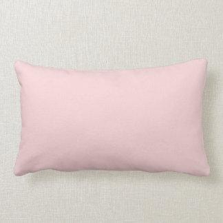 Se ruboriza el color sólido rosado cojines