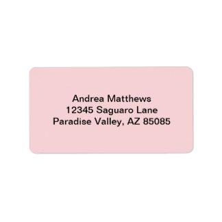 Se ruboriza el color sólido rosado etiqueta de dirección
