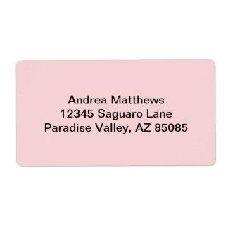 Se ruboriza el color sólido rosado etiqueta de envío