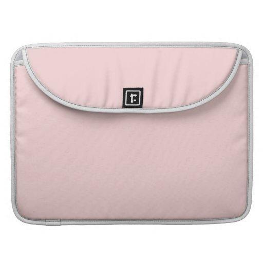 Se ruboriza el color sólido rosado funda para macbook pro