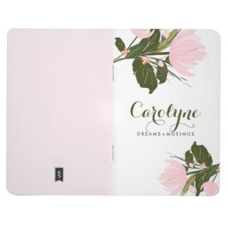 Se ruboriza el diario personalizado los tulipanes cuaderno grapado