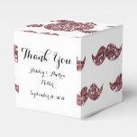 Se ruboriza el modelo rosado del bigote del brillo paquetes para detalles de bodas