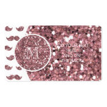 Se ruboriza el modelo rosado del bigote del brillo tarjetas de visita