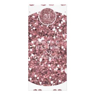Se ruboriza el modelo rosado del bigote del brillo tarjeta publicitaria