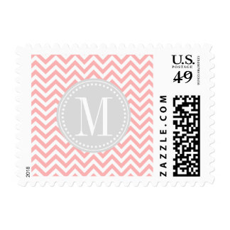 Se ruboriza el monograma personalizado zigzag sellos