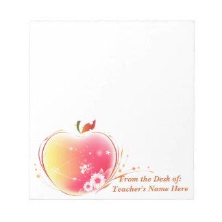 Se ruboriza el profesor de Apple del escritorio Bloc De Papel