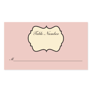 Se ruboriza el rosa crema tarjeta gris del lugar plantilla de tarjeta de negocio