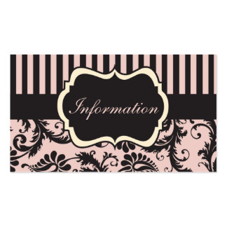 Se ruboriza el rosa crema tarjeta gris del recin plantilla de tarjeta de negocio