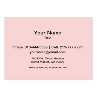 Se ruboriza el rosa plantilla de tarjeta personal
