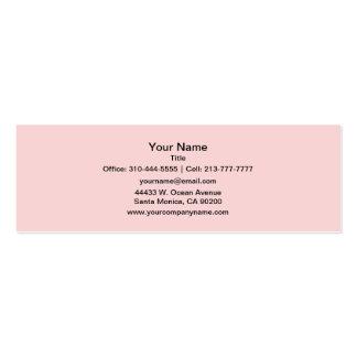 Se ruboriza el rosa tarjeta de negocio