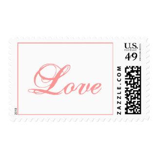 Se ruboriza el sello rosado del boda del amor