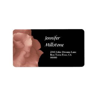 Se ruboriza la colección floral color de rosa etiquetas de dirección