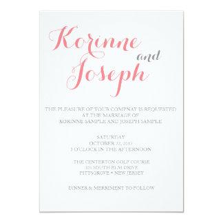 Se ruboriza la invitación rosada del boda - estilo