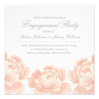 Se ruboriza la invitación rosada del fiesta de com