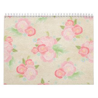 Se ruboriza la moda lamentable de los rosas rosado calendarios de pared