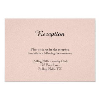 Se ruboriza la recepción nupcial suculenta invitación 8,9 x 12,7 cm