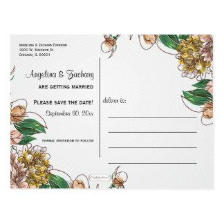 Se ruboriza la reserva floral la postal del boda d