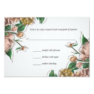 Se ruboriza la tarjeta floral de la respuesta de anuncio personalizado
