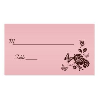 Se ruborizan el rosa y las tarjetas florales del l tarjetas de visita