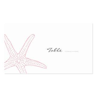 Se ruborizan las estrellas de mar rosadas tarjetas de visita