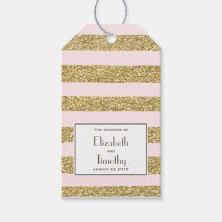 Se ruborizan las etiquetas del favor del brillo etiquetas para regalos