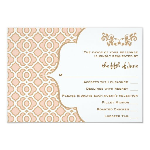 Se ruborizan las tarjetas marroquíes de la invitación 8,9 x 12,7 cm