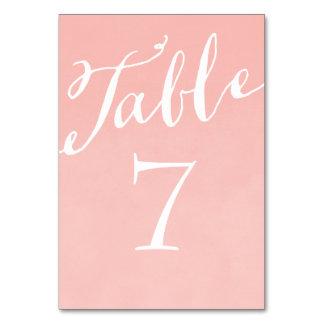 Se ruborizan los números elegantes rosados de la t