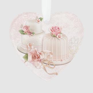 Se ruborizan los pasteles de bodas con los rosas,