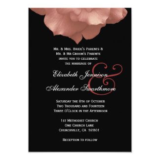 """SE RUBORIZAN los pétalos color de rosa ROSADOS que Invitación 5"""" X 7"""""""