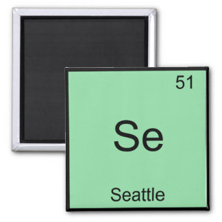 Se - Seattle City Chemistry Element Symbol T-Shirt Magnet