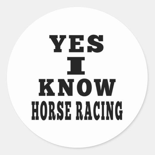 Sé sí carrera de caballos pegatinas redondas