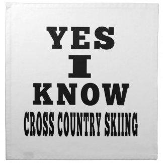 Sé sí el esquí del campo a través servilleta de papel
