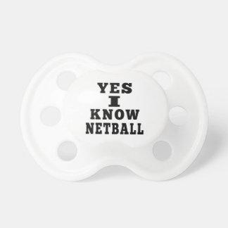 Sé sí el Netball Chupete De Bebé